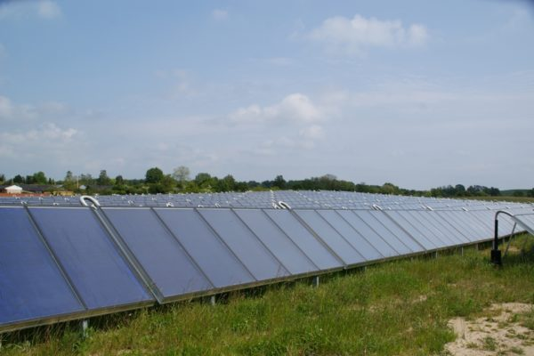 Photo panneaux solaires thermiques