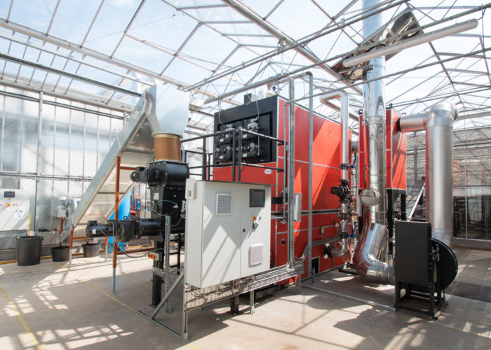 Chaudiere biomasse serre